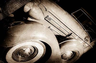 1937 Packard 1508 Dietrich Convertible Sedan -0035s Art Print