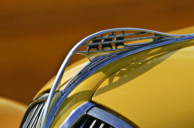 Photograph - 1937 Plymouth Hood Ornament by Jill Reger