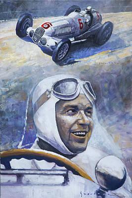 1937 Painting - 1937 Rudolf Caracciola Mb W125 by Yuriy Shevchuk