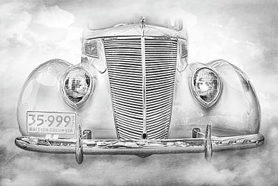 Photograph - 1937 Vintage Ford Humpback by Theresa Tahara