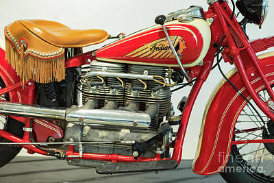 Indian Motorcycle Company Photograph - 1938 4 Cylinder Indian by Jerry Fornarotto
