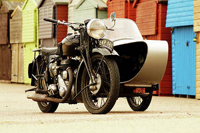Swallow Photograph - 1938 6s Deluxe Motorcycle by Mark Rogan