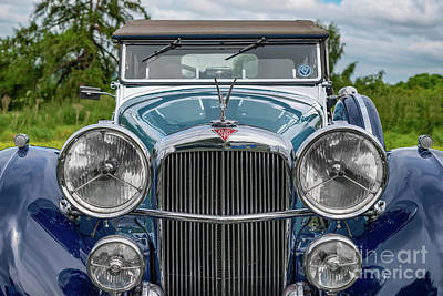 Photograph - 1938 Blue Alvis by Adrian Evans