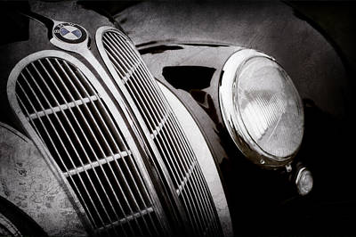 Photograph - 1938 Bmw 327-8 Cabriolet Grille Emblem -1526ac by Jill Reger