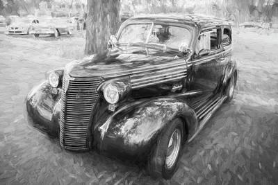 1938 Chevrolet 2 Door Sedan Deluxe C116 Bw Art Print