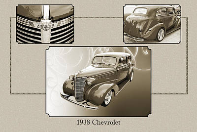 Photograph - 1938 Chevrolet Classic Car Photograph 6743.01 by M K Miller