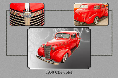 Photograph - 1938 Chevrolet Classic Car Photograph 6743.02 by M K Miller
