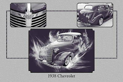 Photograph - 1938 Chevrolet Classic Car Photograph 6744.01 by M K Miller
