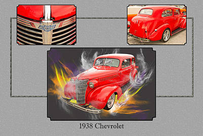 Photograph - 1938 Chevrolet Classic Car Photograph 6744.02 by M K Miller