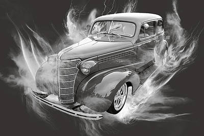 Photograph - 1938 Chevrolet Classic Car Photograph 6746.01 by M K Miller