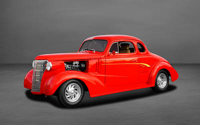 Chevy Coupe Photograph - 1938 Chevrolet Coupe - 5 Window by Frank J Benz