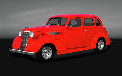 Photograph - 1938 Chevrolet Master Deluxe 4 Door Sedan   -   1938chevmastdelxesedgry170369 by Frank J Benz