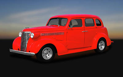 Photograph - 1938 Chevrolet Master Deluxe 4 Door Sedan   -   1938chevmasterdeluxesedan170369 by Frank J Benz