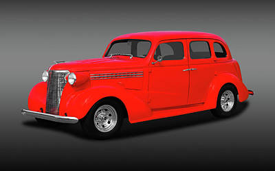 Photograph - 1938 Chevrolet Master Deluxe 4 Door Sedan   -   38chevmasterdeluxefa170369 by Frank J Benz