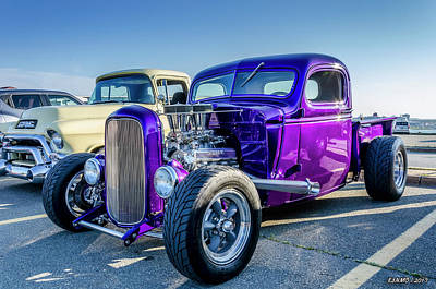 Photograph - 1938 Chevy Pickup With Buick Nailhead V8 by Ken Morris