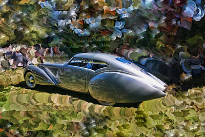Photograph - 1938 Delage D8 - 120 Aerodynamic Coupe by Allen Beatty