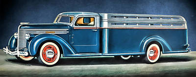 Digital Art - 1938 Diamond-t Truck by John Haldane