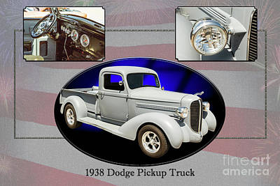 Photograph - 1938 Dodge Pickup Truck 5540.40 by M K Miller
