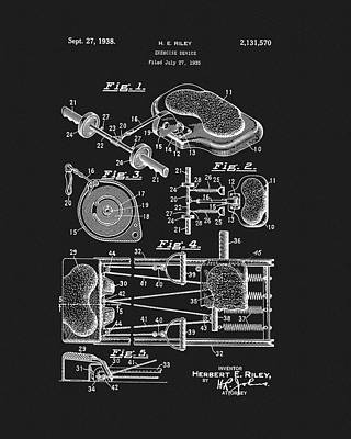 Nike Drawing - 1938 Exercise Device Patent by Dan Sproul