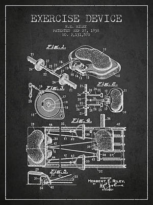 Weightlifting Wall Art - Digital Art - 1938 Exercise Device Patent Spbb09_cg by Aged Pixel