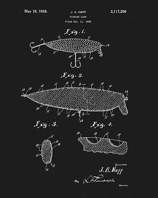 Drawing - 1938 Fish Lure Patent by Dan Sproul