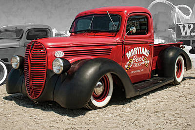 Photograph - 1938 Ford Pickup Rat Rod by Daniel Adams