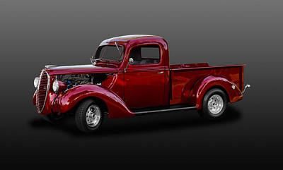 Photograph - 1938 Ford Pickup Truck  -  38fdputk775 by Frank J Benz