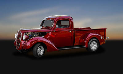 Photograph - 1938 Ford Pickup Truck   -   38fdtrk625 by Frank J Benz