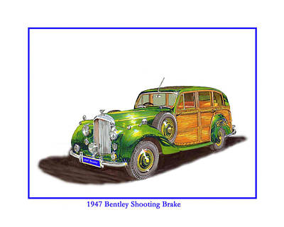 Painting - 1938 Hispano Suiza Shooting Brake by Jack Pumphrey