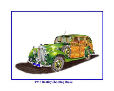 Painting - 1938 Hispano Suiza Shooting Brake by Jack Pumphrey