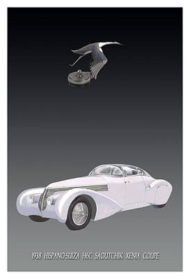 Painting - 1938 Hispano Suiza Xena Coupe by Jack Pumphrey
