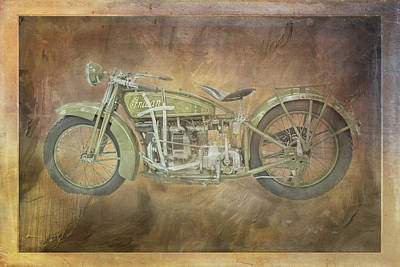 Digital Art - 1938 Indian Ace Motorcycle by Ramona Murdock