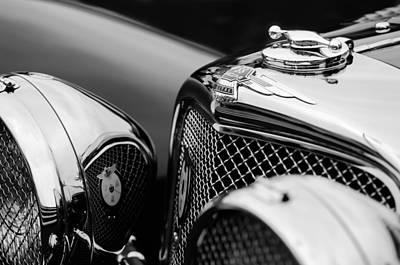 Photograph - 1938 Jaguar Ss100 3.5-liter Roadster Grille by Jill Reger