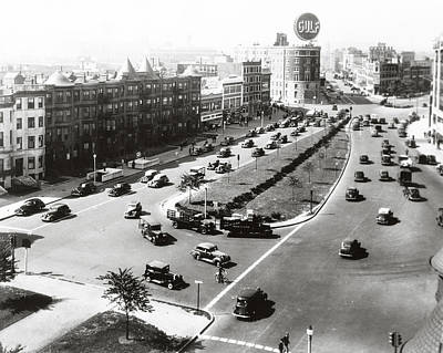 Photograph - 1938 Kenmore Square Boston by Historic Image