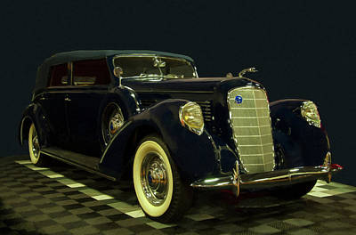 Digital Art - 1938 Lincoln Model K Lebaron Digital Oil by Chris Flees
