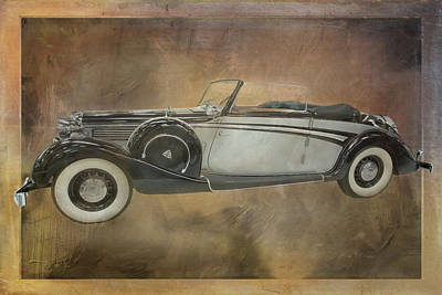 Digital Art - 1938 Maybach Convertible by Ramona Murdock
