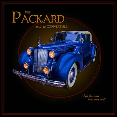 Photograph - 1938 Packard 1607 12 Convertible by TL Mair