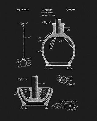 Plunger Drawing - 1938 Plunger Patent by Dan Sproul