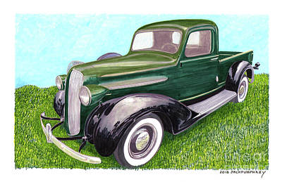 Painting - 1938 Plymouth Pick Up Truck by Jack Pumphrey
