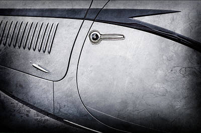 Photograph - 1938 Talbot-lago 150c Ss Figoni And Falaschi Cabriolet Side Door Handle -1511ac by Jill Reger