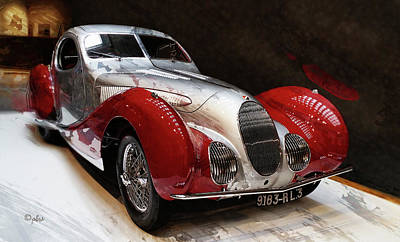 Photograph - 1938 Talbot-lago T150c-ss Teardrop I by Paulette B Wright