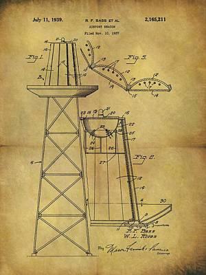1939 Airport Beacon Patent Art Print by Dan Sproul