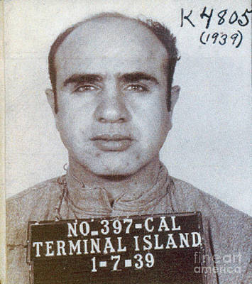 Al Capone Photograph - 1939 Al Capone Mugshot by Jon Neidert