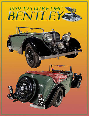 Photograph - 1939 Bentley Drop Head Coupe by Jack Pumphrey