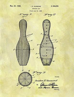 1939 Bowling Pin Patent Art Print