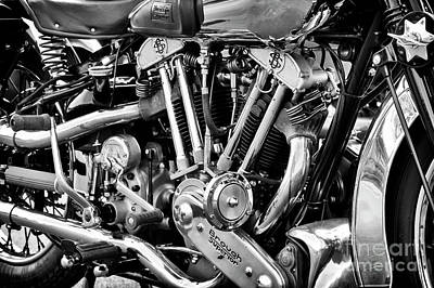 Photograph - 1939 Brough Superior  by Tim Gainey