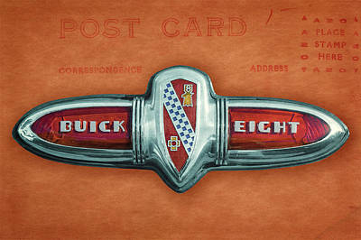 Photograph - 1939 Buick Century Convertible Trunk Badge  -  1939buickcenturytrunkbadge173377 by Frank J Benz
