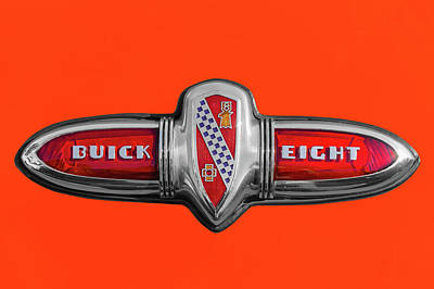 Photograph - 1939 Buick Century Convertible Trunk Badge  -  1939buicktrunklogo173377 by Frank J Benz