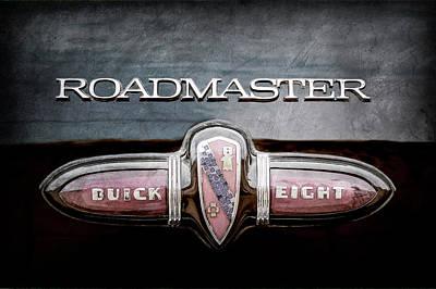 Photograph - 1939 Buick Eight Roadmaster Emblem -0101ac by Jill Reger