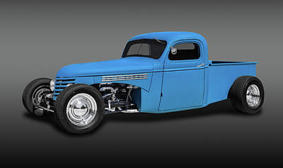 1939 Chevrolet Custom Pickup Truck  -  1937chevpickupfa0116 Art Print by Frank J Benz